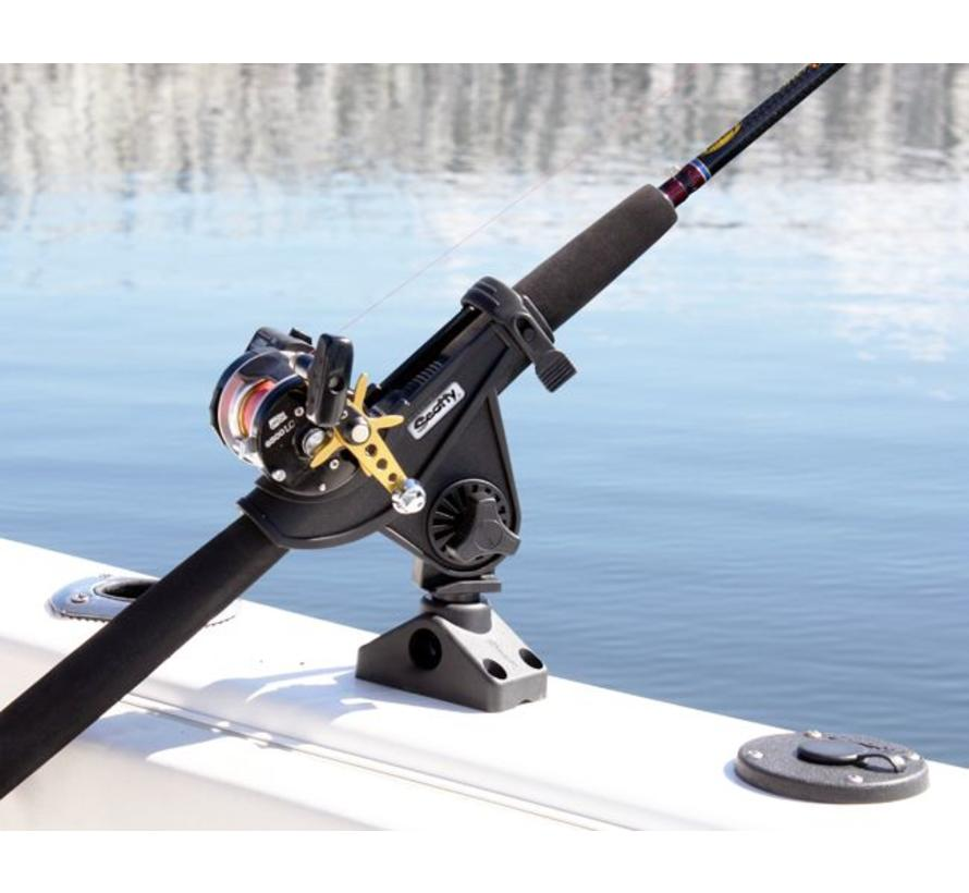 280 Baitcaster / Spinning Rod holder with side / deck mounting (241)