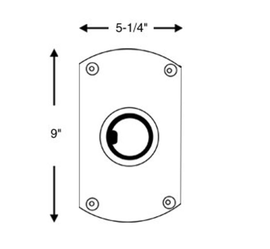 Plug In Double Flat Seitenbasis, Satin Finish