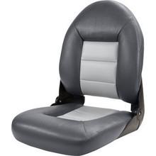 Tempress Marine Tempress Navistyle ™ Hög rygg Boat Seat Charcoal / grå