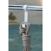 BoatMates Double Hook Rail White
