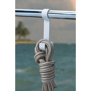 BoatMates Crochet double rail blanc