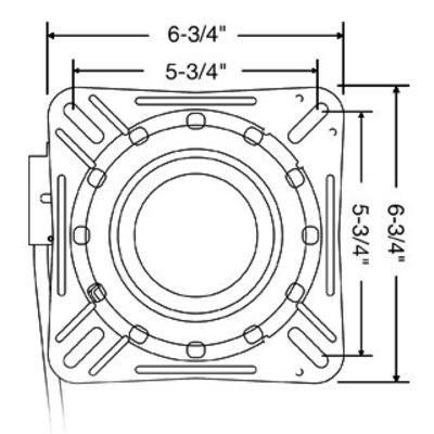 Springfield Draaiplateau met lock Zwart gecoat staal