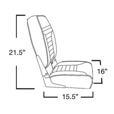 Springfield Economy Highback Stuhl Boot weiß