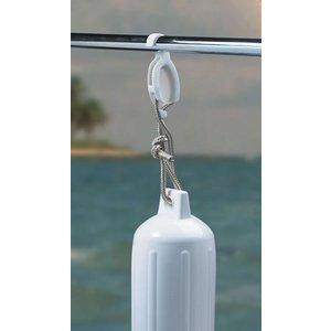 BoatMates Fender hanger white