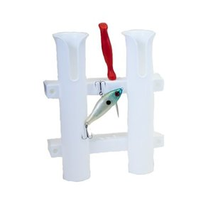 Fish-On! Double Tube Holder Rod White