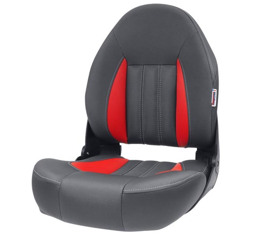 ProBax® Hoge rug Bootstoel Rood/Grijs