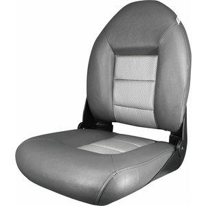 Tempress Navi ™ style haut Retour Bateau Seat Charcoal / Silver