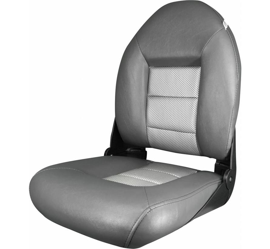 Navi Style ™ Hög Back Boat Seat Charcoal / Silver