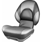 Tempress Hohe Rücksitz Boot Tempress® Centric ™ II Holzkohle / Liquid Wave Silver