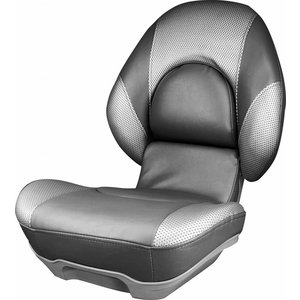 Tempress High Back Boat Seat Tempress® Centric ™ II Charcoal / Liquid Wave Silver