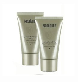 Neoderma Set Gold Cream Mask + Scrub Cream