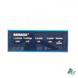 ANABOX PILBOX BLAUW 1 DAG 5 VAKKEN NL