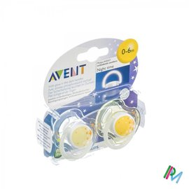 AVENT Avent Sucette Silicone Nuit +3m 2