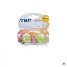 AVENT Avent Fopspenen Transparant Silicone 3-6m 2
