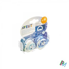 AVENT Avent Fopspeen Silicoon Nacht 6-18m 2