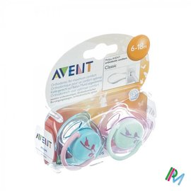 AVENT Avent Sucette Design Silicone 6-18m 2