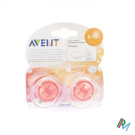AVENT Philips Avent Sucette Transparent Silicone +6m 2 SCF170/22