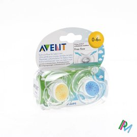 AVENT Avent Sucette Free Flow Tendens Sil Double 0- 6m 2