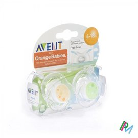 AVENT Avent Sucette Free Flow Tendens Sil Double 6-18m 2
