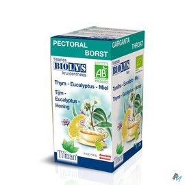 Biolys Tijm-eucalyptus-honing Bio Tea-bags 20
