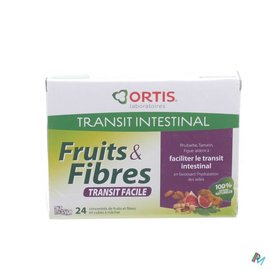 ORTIS Ortis Fruits & Fibres Transit Facile Cubes 24