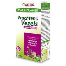 ORTIS ORTIS VRUCHTEN & VEZELS MILDE WERKING STICK 12X10G