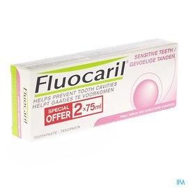 FLUOCARIL Fluocaril Dentifrice Dents Sensibles 2x75ml