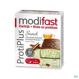 MODIFAST Modifast Protiplus Reep Chocolade-pistache 162g
