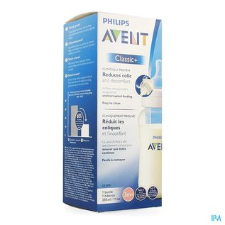 AVENT AVENT ZUIGFLES CLASSIC+ PP Z BPA 330 ML