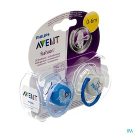 AVENT Philips Avent Sucette Fashion Double 0- 6m 2 SCF172/50