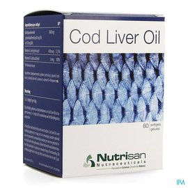 NUTRISAN Cod Liver Oil 60 gélules Nutrisan