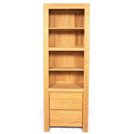 Strakke, greeploze, teakhouten boekenkast | Dessa meubelen, de teak ...