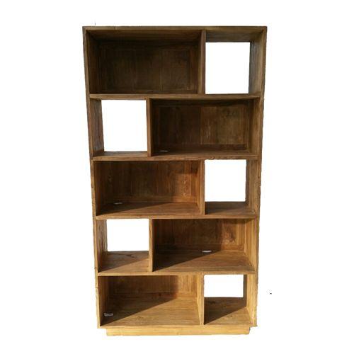 Boekenkast teak Bien geborsteld | Dessa meubelen, de teak speciaalzaak!