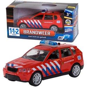 112 Brandweerauto met licht en geluid
