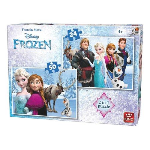 Disney Frozen Puzzel 2-IN-1 24 & 50 Stukjes
