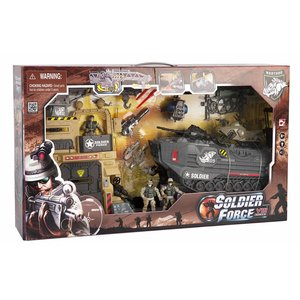 Soldier Force Steel Warthog Camp Playset