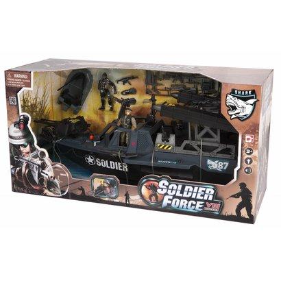 Soldier Force Tornado Assault Boat Set