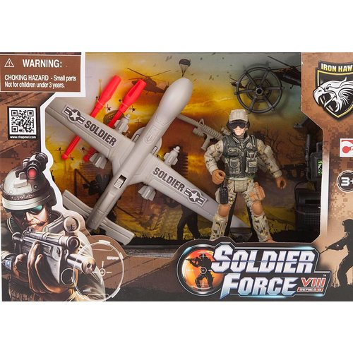 Soldier Force Rapid Action Playset + Drone