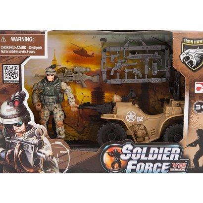Soldier Force Rapid Action Playset + Quad