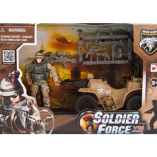 Soldier Force Rapid Action Playset + Quad