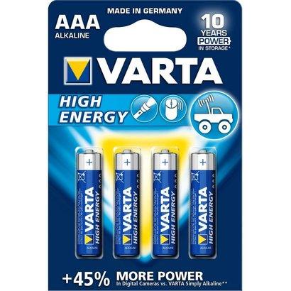 Batterijen Varta AAA Alkaline 4 stuks