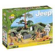 Cobi Small Army WWII - Willys Jeep + 1/4 ton aanhanger