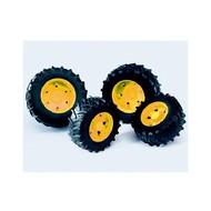 Bruder Tractor Dubbele Banden - Zwart/Geel