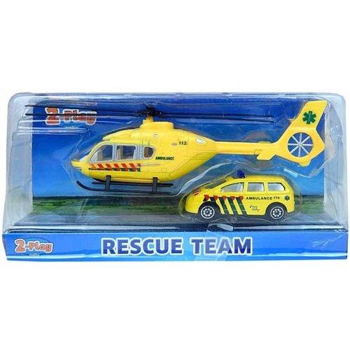 Die Cast helikopter met auto