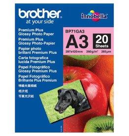 Brother Fotopapier A3 260gr Glossy 20vel