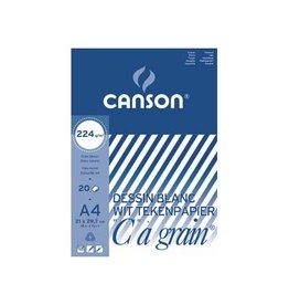 """Canson Canson Tekenblok """"C"""" à grain 224 g/m², ft 21 x 29,7 cm (A4)"""