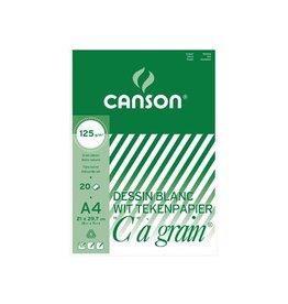 """Canson Canson Tekenblok """"C"""" à grain 125 g/m², ft 21 x 29,7 cm (A4)"""