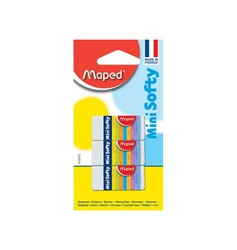 Maped Maped potloodgom Softy mini formaat, blister met 3 stuks