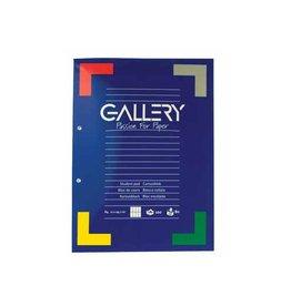 Gallery Gallery cursusblok commercieel geruit, papier van 80 g/m²