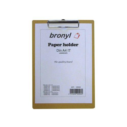 Bronyl Klemplaat voor ft A4 (23 x 33 cm)